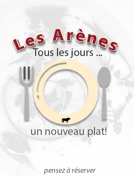 plat du jour brasserie Les Arènes